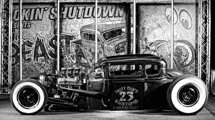1930 Ford Five Model A, Smokin' Shutdown's Hot Rod Sonderausstellung – Ess…