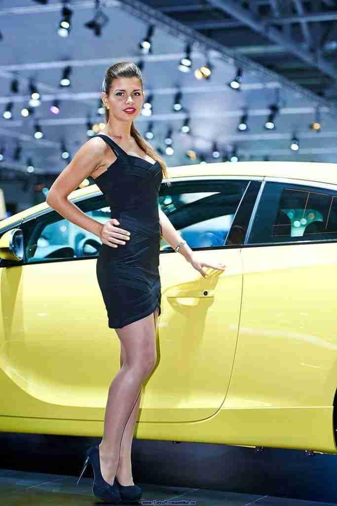 Elegant Auto Show Girl