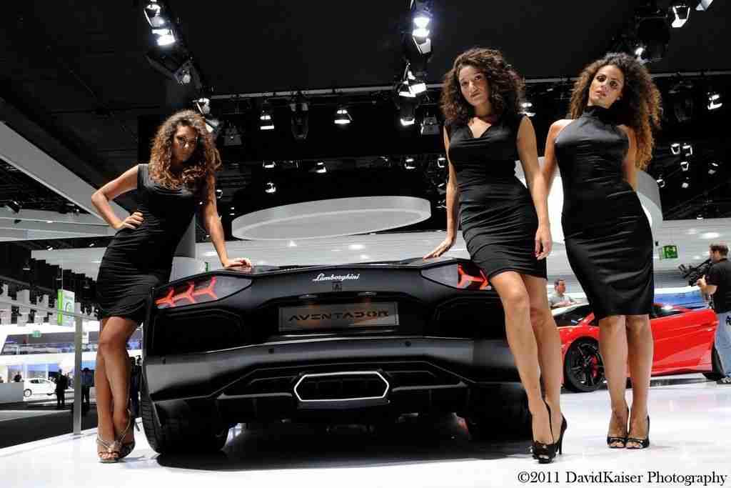 Lamborghini Car Girls at Frankfurt Motor Show
