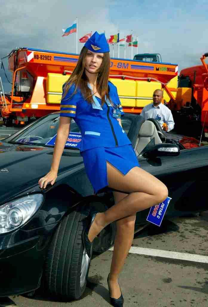 Stewardess costume for Azard in Russia