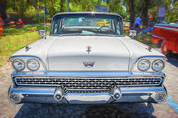 1959 Ford Fairlane 500 2 Dr Hardtop X104 by Rich Franco