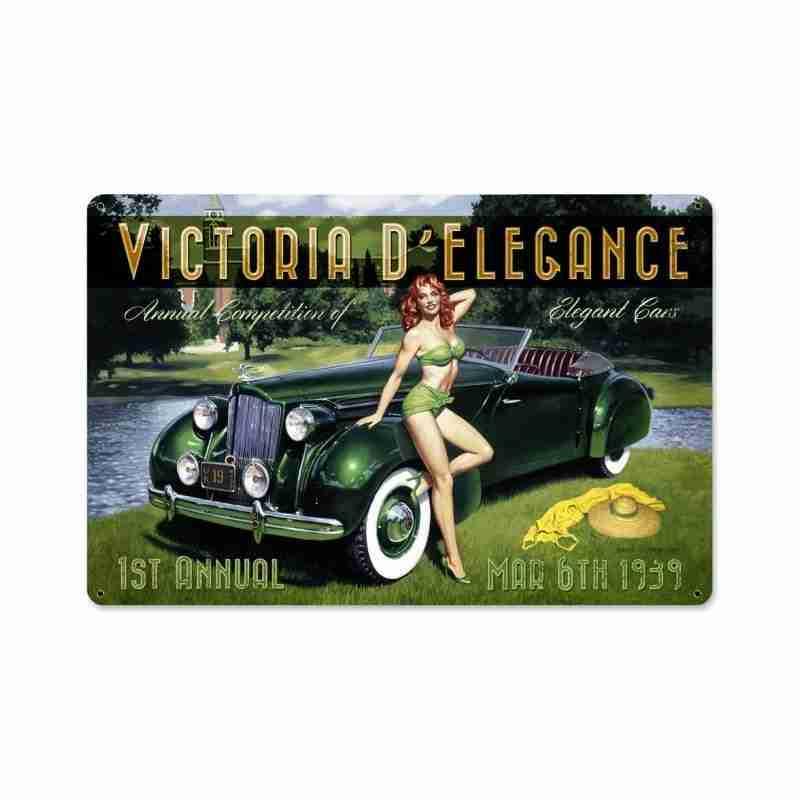 Victoria D Elegance Metal Sign
